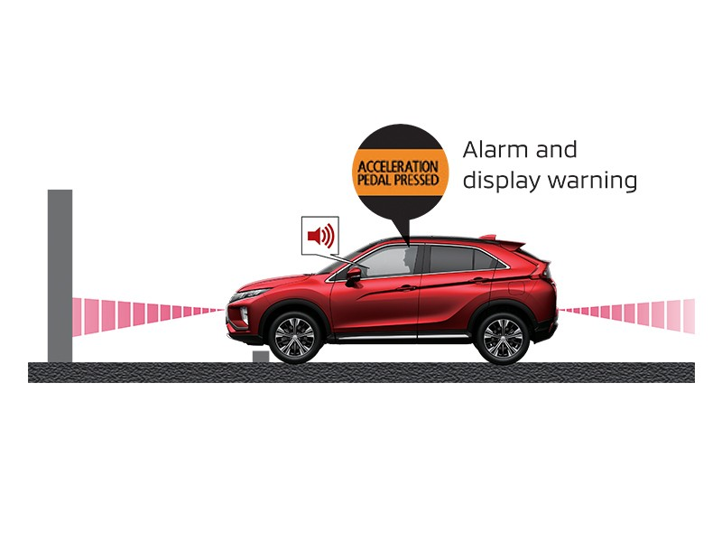 Safety Car - Ultrasonic Misacceleration Mitigation System (UMS) - Eclipse Cross - Mitsubishi Dealer Jakarta - Harga Dealer Resmi Mitsubishi