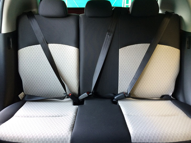 Interior Car Mirage - New Isofix with 3 Point Rear Seatbelt with ELR X 3 - Mitsubishi Dealer Jakarta | Showroom Promo Harga Mitsubishi