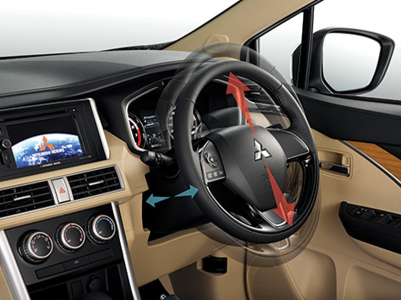 Interior Car Xpander - Tilt & Telescopic Steering - Mitsubishi Dealer Jakarta | Showroom Promo Harga Mitsubishi